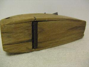 Vintage Wood Block Coffin Planer by Hancock Tool Co London Ontario image 7