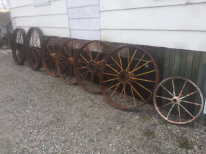 Antique Steel Wheels, casters, soap box derby wheels, etc...