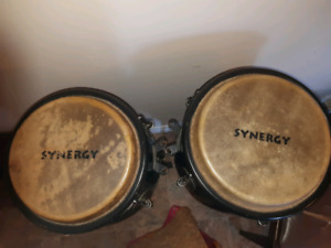Conga drum set w/ stands