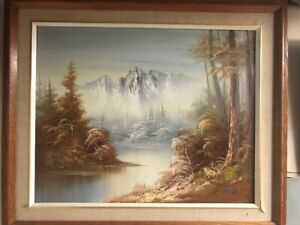 Oil Paintings ( Set of 3 Matching Frames )