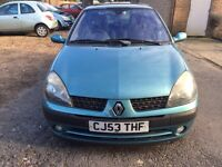 Renault Clio 1.4 new cambelt 2003 5 doors one year mot