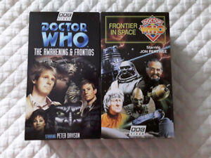 DOCTOR WHO VHS, CD, VINYL AND AUDIO CASSETTES