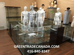 Glass showcases & Counters, Mannequins & Dress forms