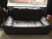 2 seater black sofa no marks or rips no feet