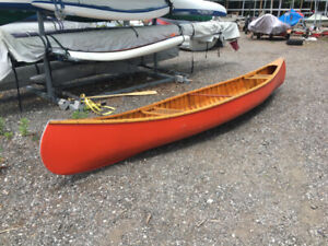 Vintage, great condition cedar canoe for sale - $1000