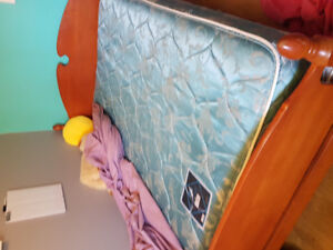 Double bed head and foot board and box spring and mattress need