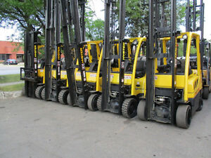 Hyster Forklift 5000-7000Lb capacity 3 stage Mast &Side shift