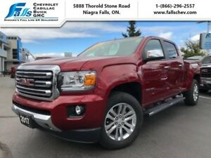 2017 GMC Canyon SLT  SLT,NAV,LEATHER,REARCAM,REMOTE START,LOW KM