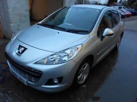 2012 PEUGEOT 207 SPORTIUM 1.4 PETROL MANUAL 5 DOOR IN SILVER