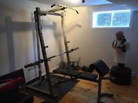Bench Press / Squat Rack / Olympic Bar / Cables