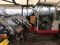 Takeuchi tb016 mini digger 2010 expanding tracks and quick hitch