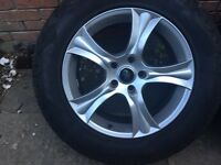 "18"" Land Rover Discovery 3 4 alloy wheels +new General Grabber tyres 5x120 VW Transporter T5 Range"