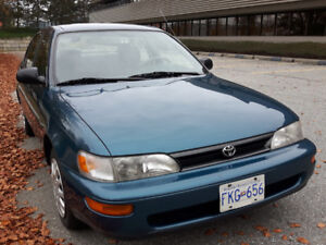 1994 Toyota Corolla Special Edition - One Owner, Low Kms