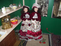 Two Stand- up Display Dolls