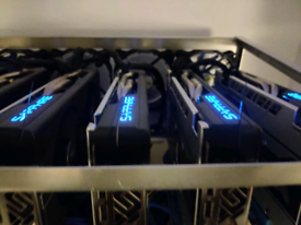 Mining rig 6xRadeon RX 580 4096 MB · Sapphire