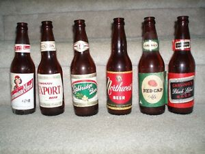 Vintage Beer Bottles with Labels Strathcona County Edmonton Area image 1