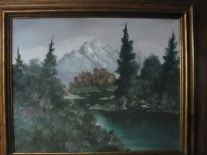 mountain scene in oil -- NOW REDUCED!!!