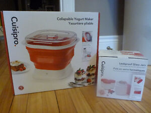 New Cuisipro collapsible yogurt maker with 4 jars
