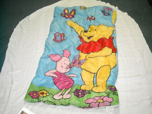 Childs Winnie the Pooh Sleeping Bag with Zipper