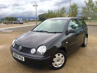 2005 VW POLO ++ BLACK ++ CENTRAL LOCKING ++ 2 KEYS ++ POWER STEERING ++ JUNE MOT.