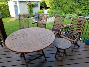 Teak Patio Set Kijiji In Ontario Buy Sell Save With Canada S