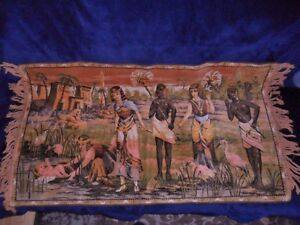 Variety of Vintage Egyptian Woven Wall Hanging Tapestries