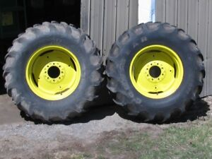 JD wheels with tires