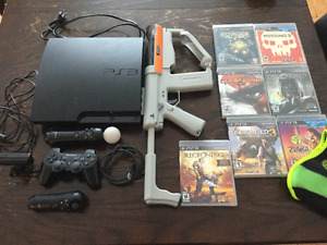 PS3 150 gig + Playstation Move + 7 jeux