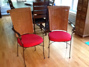 Highback Wrought Iron Chairs