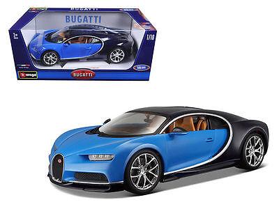 Bburago 1 18 Bugatti Chiron Diecast Model Car Vehicle New In Box 18 11040 Blue