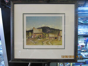 """A.J. Casson 20x20 Framed Numbered Print """"Barry Bay"""" AP 4of60"""