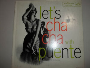 "12"" vinyl record Let's Cha Cha with Puente album 1957 RCA Victor"