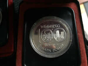 Five Canadian silver coins