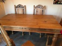 Solid very heavy table and chairs 5ft by 3