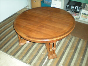 Cherry Wood Round Coffee Table