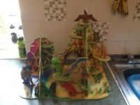 Dinosaur valley with dinosaurs