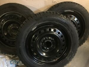3  205/55/R16 Hankook winter ipike Tires with Rims