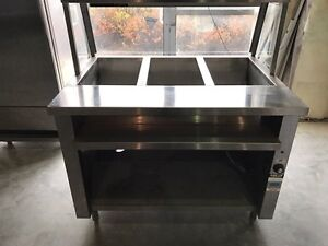 BUFFET STEAM TABLES! PREP TABLES! HOBART DISHWASHER! & MORE