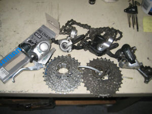 Shimano 8 Speed cassettes shifters chain brake