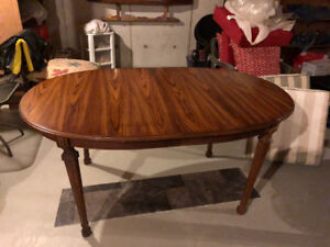 """60"""" Oval Dinning Room Table with 6 Cane Back Chairs"""