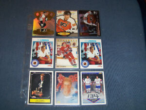 COLLECTION OF 9 ERIC LINDROS HOCKEY CARDS-1991/1998-VINTAGE!