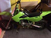 Kx65 2010 , kids motorcross bike Kawasaki kx65