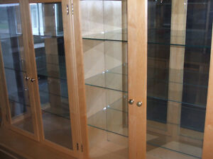 CUSTOM BUILT DISPLAY UNIT PINE WITH GLASS AND LIGHTS Kitchener / Waterloo Kitchener Area image 7