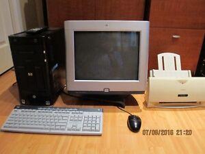 Ensemble complet d'ordinateur HP à vendre!