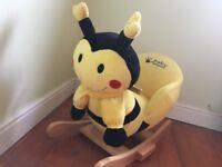 Rocking toy bumblebee sings baby toddler Rocker
