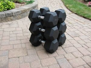 80 Pound Hex Dumbbells - MINT Condition