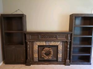 Fireplace/Bookshelf  Livingroom Furniture