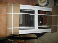 Install small basement slider window and take out existing