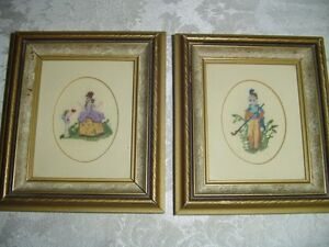 2 Vintage Cross Stitch Pictures
