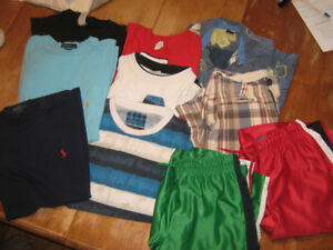 boys t-shirts and shorts size 12-18 $2 each